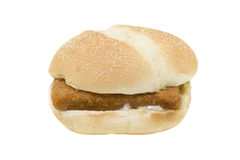 Fried fish sandwich Stock Images