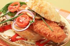 Fried fish sandwich Royalty Free Stock Photos