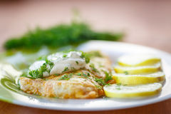 Fried fish Stock Photo