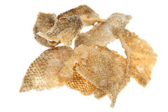 Fried fish skin snack Stock Photography