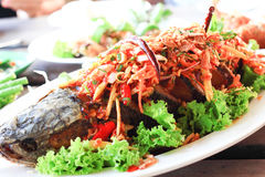Thai fish spicy Royalty Free Stock Photography