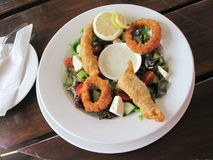 Fried fish starter Royalty Free Stock Images