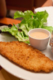 Fried  fish  steak Stock Image