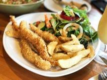 Fried fish steak royalty free stock photo