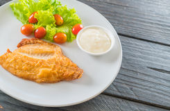 Fried fish steak Royalty Free Stock Photography