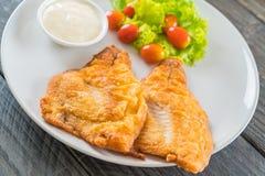 Fried fish steak Stock Photo