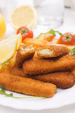 Fried fish sticks Stock Photos