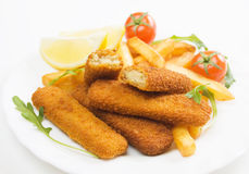 Fried fish sticks Stock Photo