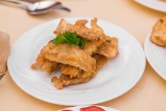 Fried fish sticks. Stock Photos