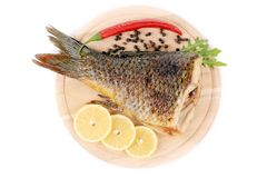 Fried fish tail. Stock Images