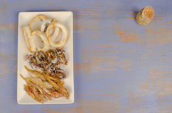 Fried fish tapa Royalty Free Stock Photos