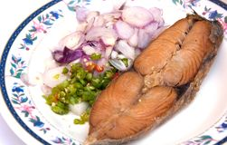Fried fish thai style food Stock Photography