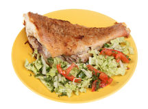 Fried fish and vegetable salad Royalty Free Stock Image