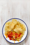 Fried fish with vegetables Royalty Free Stock Photo