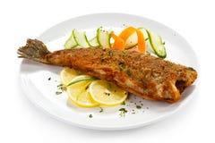 Fried fish royalty free stock photos