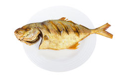 Fried Fish. Fried Fish On White Background Stock Photography