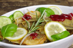 Fried fishes Stock Photography