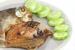 Fried fishes stock photo