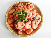 Fried flavors , sweet, sour and salty shrimps Royalty Free Stock Image
