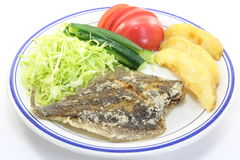 Fried flounder. This is a picture of fried flounder for dinner one day Royalty Free Stock Photo