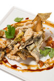 Fried flounder in the Eastern Stock Image
