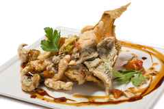 Fried flounder in the Eastern Royalty Free Stock Images