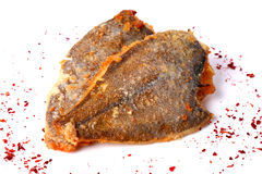 Fried flounder fishes Stock Photography