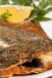Fried flounder. Selective focus. Royalty Free Stock Photo