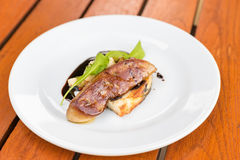 Fried foie gras Royalty Free Stock Image