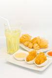 Fried food in  Dim Sum restaurant Stock Photo