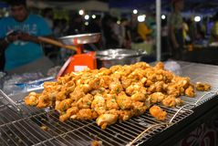 Fried food is one of a kind. The most commonly seen on the various markets. stock image