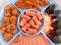 Fried food is Thai food. Close up stock image