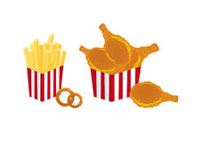 Fried food vector Stock Images
