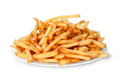 Fried french fries chips Royalty Free Stock Photos
