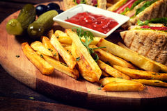 Fried french fries Royalty Free Stock Images