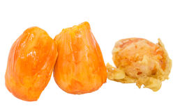 Fried and Fresh Chempedak Fruit V royalty free stock image