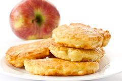 Fried fritters with apple Stock Photography