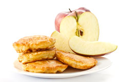 Fried fritters with apple Stock Image