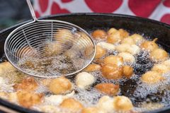 Fried Fritule Stock Photos