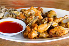 Fried Frog Legs Images libres de droits