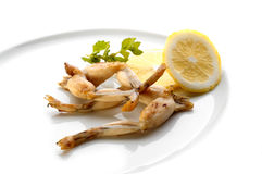 Fried frog legs Royalty Free Stock Photos