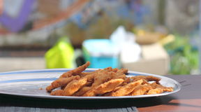 Fried frogs legs Royalty Free Stock Photography