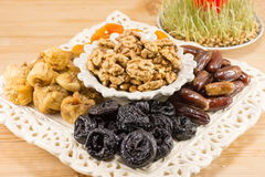Fried fruit served as Christmas Eve offerings Royalty Free Stock Photography