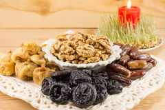 Fried fruit served as Christmas Eve offerings Royalty Free Stock Photo