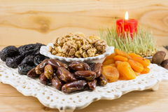 Fried fruit served as Christmas Eve offerings Stock Images