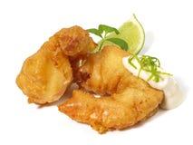 Fried Gamba Shrimp stock photos