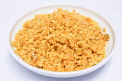Fried Garlic Stock Photos