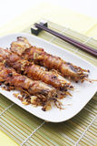 Fried garlic Mantis shrimp Stock Image