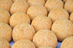 Fried Glutinous Rice Balls with Sesame Royalty Free Stock Photos