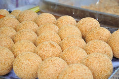 Fried Glutinous Rice Balls with Sesame Stock Image